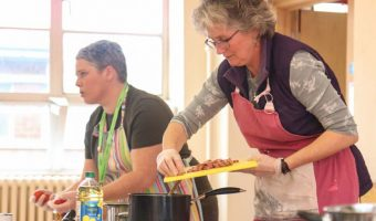 Community Chefs Taking Part in Our Ready, Steady, Cook workshop