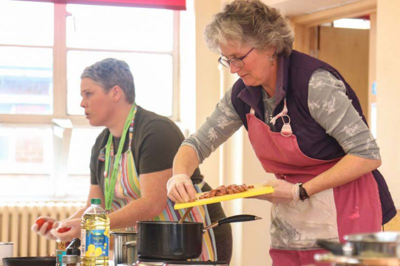 Food for Thought Volunteers Cooking Demonstration