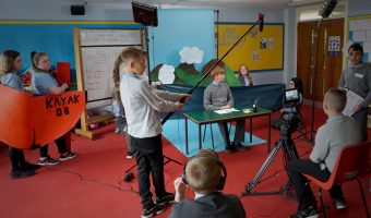School pupils take part in a Braw Talent film project