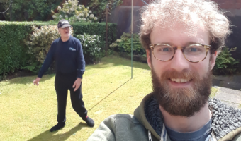 socially distanced selfie