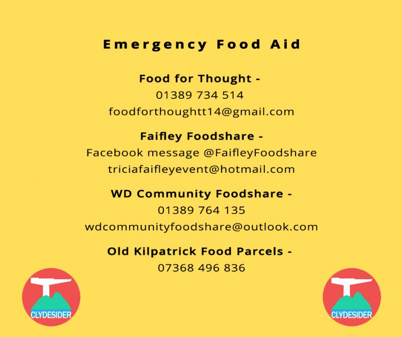 emergency food aid contact details