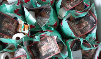 food parcels made up ready to be delivered