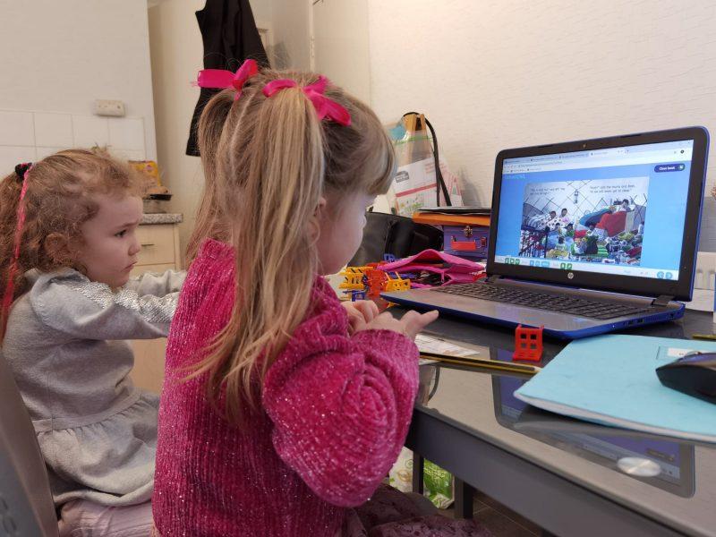 Children at compute