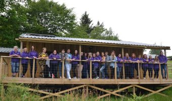 Y Sort members at their hut in Carbeth