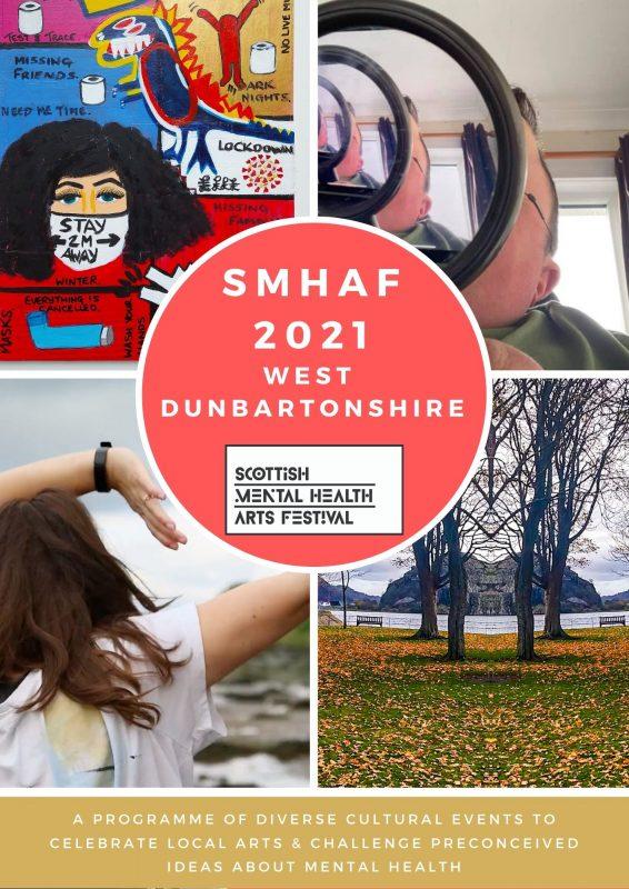 Publicity poster for local Scottish Mental Health Arts Festival programme