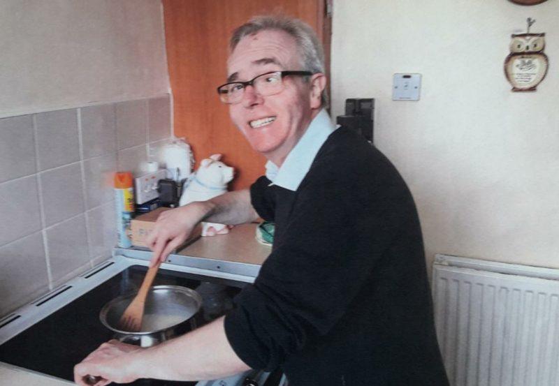 Gentleman cooking at home