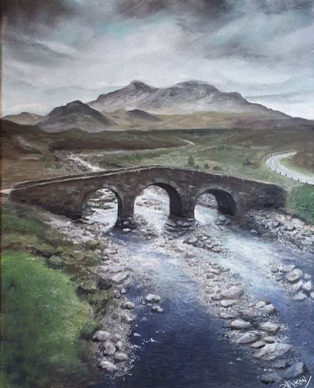 painting of bridge on Isle of Skye