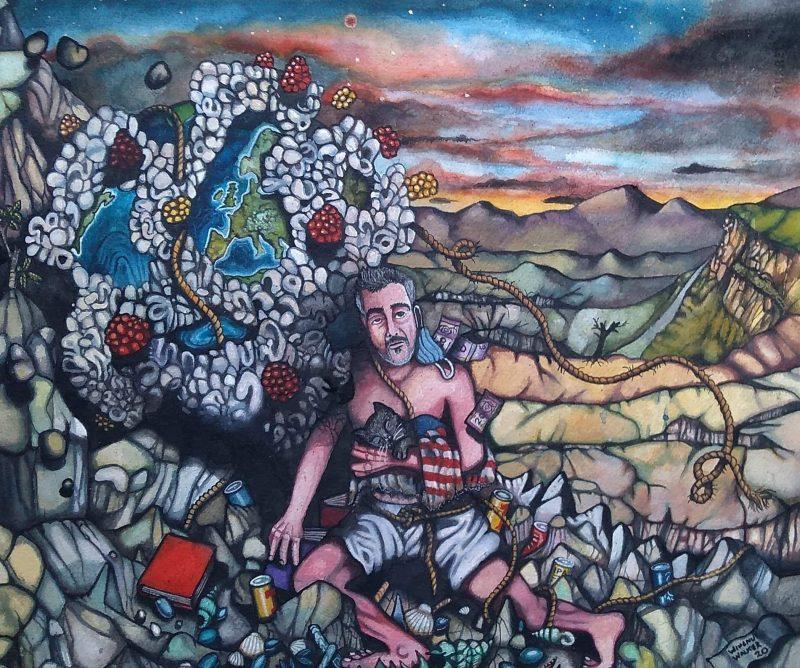 Painting by Wingnut Walker