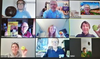 Sporting Memories participants on Zoom